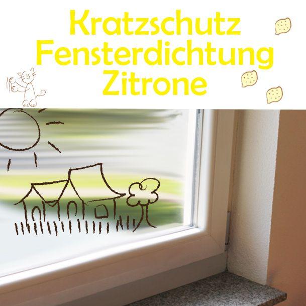 Kratzschutz Fensterdichtung Zitrone AntiKratzMax - Schutz von Fensterdichtungen