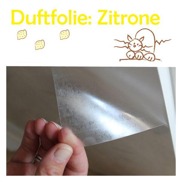 Kratzschutzfolie Verduftikuss von AntiKratzMax: Duft Zitrone mit dem Lass-das-Kratzen Effekt