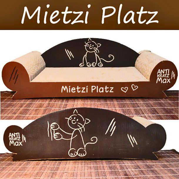 Katzen Kratz Couch: Mietziplatz (braun)