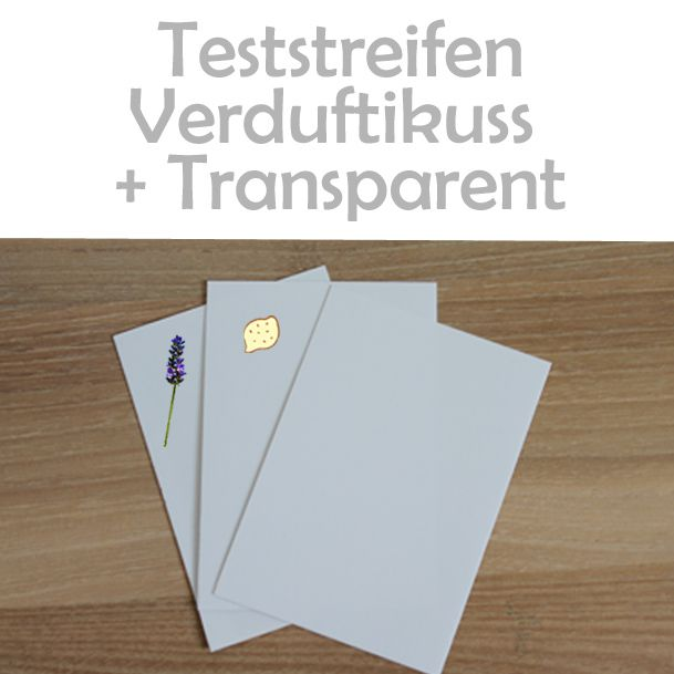 Teststreifen Verduftkuss und Transparent - AntiKratzfolie testen!